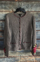 Escada Sweater Cardigan Sweater Womens 40 Gray Wool Blend