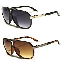 NEW 80s Classic Retro Men's Fashion Aviator's Vintage Designer Sunglasses Black
