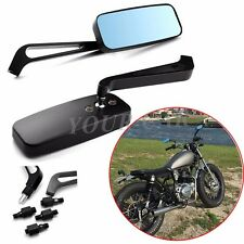 BLACK CNC ALUMINUM MOTORCYCLE CHOPPER CRUISER SIDE MIRRORS FOR HONDA MOTORCYCLE