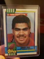 JUNIOR SEAU 1990 DISCLAIMER BACK ROOKIE CARD BRAND NEW