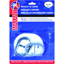 """Maxant Button Bk-466 Oval Buckle Cover Kit 0.75"""" Silver"""