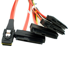 mini SAS 36P SFF-8087 to (4) SFF-8482 connectors with 4P power cable 1M