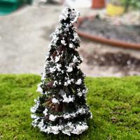 Christmas Tree Mini Miniature Figurine Fairy Garden Mini Landscape Xmas Decor3C