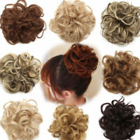 Women Curly Wave Short Messy Dish Hair Bun Extensions Stretch Hair Comb Ponytail