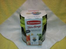Rubbermaid Take Alongs 2 Containers/Lids w/Removeable Trays for Dips Toppings,