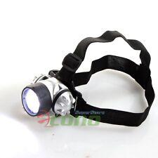 Lot 2 Hands Free LED Headband Flashlight Headlamp Headlight Flash Light Camping
