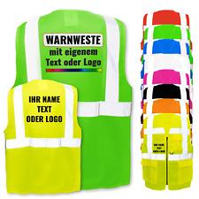 Warnweste mit Reißverschluss und Taschen *  Aufdruck mit Logo selbst gestalten