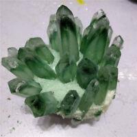 Rare NATURAL Green Ghost phantom Quartz Crystal Cluster Specimen