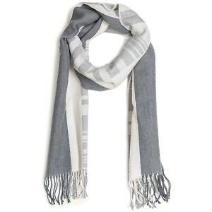 JOHNSTONS OF ELGIN Extrafine Merino Wool Multi-Pattern Scarf - MADE IN SCOTLAND