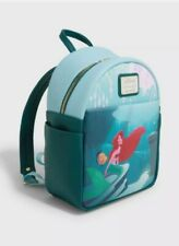 Loungefly Disney Ariel the mermaid Grotto Mini Backpack Bag Tote NEW w tags