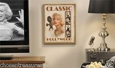 MARILYN MONROE CANVAS PRINT home theater decor 15x12 in. new hollywood actress