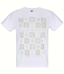 Game of Thrones - Siegel -  T-Shirt, weiss   You Win Or You Die -HBO Merchandise