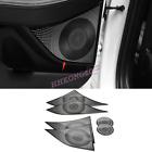 For Hyundai Sonata 2020-2022 Black Steel Interior Door Stereo Speaker Cover Trim