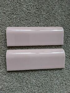 10 x New Old Stock Vintage Pink Bullnose Tile American Olean 1950's Retro 6 in.