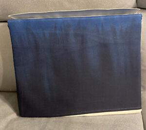 RALPH LAUREN Indigo Modern Blue Tie Dye Border FULL FLAT SHEET NEW 1ST QUALITY