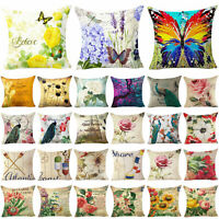 Throw Case Cover Pillow Floral Decor Cushion Home Couch Cover Pillow Sofa Flower