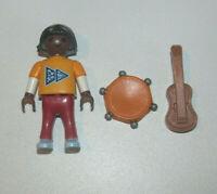 Playmobil Figurine Personnage Enfant Fille Marron + Instruments Musique NEW