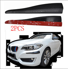 2x 283MM Carbon Fiber Look Car Bumper Corner Guard Protector Builtin Metal Sheet