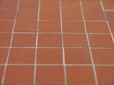 "25 sq ins REAL BRICK 3/4"" Quarry Tile Dolls House Floor Tiles"
