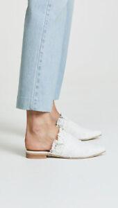 Free People Womens Eyelet Sienna Slip On Shoes White Size EU 37