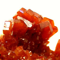 Gemmy Red Vanadinite Crystals Specimen on Baryte Mibladen Morocco 4cm Unpolished