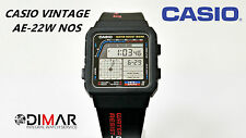 VINTAGE CASIO AE-22W NOS TWIN-GRAPH II WR.50 MODULO 808 JAPAN AÑO 1988