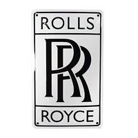 Enamel plaque ROLLS ROYCE 30x50cm WARRANTY emblem sign logo plate