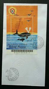 [SJ] Brazil Whale 2002 Brasil Ocean Marine Life Painting Kites (miniature FDC)