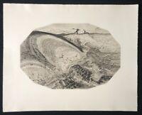 Wenzel Hablik, Blatt 4: Sturmbrandung, Radierung aus dem Nachlass, 1915