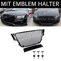 RS5 Look Grill für Audi A5 B8 8T S line S5 RS5 Wabengrill Kühlergrill Schwarz