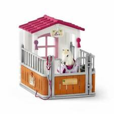 Schleich 42368 Horse Stall With Lusitano Mare Figure