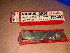 Mitutoyo 186 103 Radius Gage Set 16 Pairs Of Leaves 132 1764