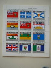 CANADA 1979 CANADA DAY Minisheet 12x17c Provinces flags Mint never hinged