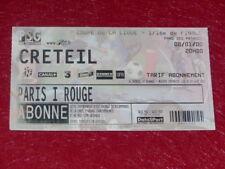 [COLLECTION SPORT FOOTBALL] TICKET PSG / CRETEIL 8 JANVIER 2000  Coupe Ligue 16e