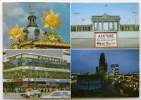 Kuppel Schloss Charlottenburg Brandenburger Tor Ku-Damm-Eck Postcard (P250)