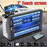 7'' 2Din Touch Screen Car MP5 Player bluetooth Stereo FM Radio HD Rear Camera 🔥