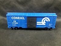 Vintage CTC Conrail CR #171032 Blue Train Box Car HO Gauge Scale Sliding Door