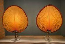 "A Pair of Ingo Maurer Style ""Uchiwa"" Table Lamps"