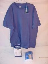 (3) NWT JOCKEY MENS XL TSHIRTS SHIRTS - Blue 100% Cotton, Crew Neck, V Neck