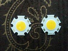 3 Watt | Warm-White | 12V-DC | Round COB LED SMD Diode | 1 Set = 2 Pieces