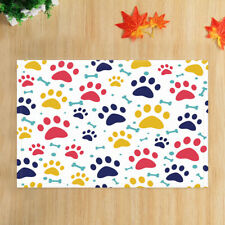 Animal Cat and Dog Footprint Bathmat Bathroom Rug Non-Slip Door Mat 16x24""