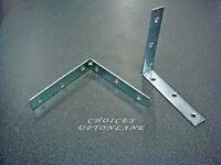 CORNER L SHAPE BRACE FIXING SELF SUPPORT ANGLE JOINT ZINC PLATED BRACKET 150MM