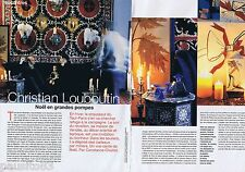 COUPURE DE PRESSE CLIPPING 1998 CHRISTIAN LOUBOUTIN   (4 pages)