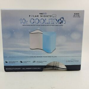 "Therapedic Polar Nights Cooling Memory Foam Knee Pillow, 10"" x 8"". New"