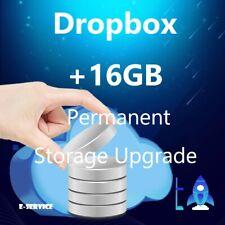 DROPBOX +16 GB UPGRADE Service / Lifetime Extra Storage Space