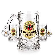 6 x Rum Bacardi Oakheart Fledermaus Krug Glas / Gläser, Markenglas, Longdri NEU