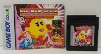 Ms. Pac-Man & Manual Booklet  Nintendo Game Boy Color GB TESTED GBA Advance GBC