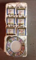 Imperial Sheng Xing SET OF 6 COFFEE/TEA CUPS AND SAUCERS - FINE PORCELAIN CHINA