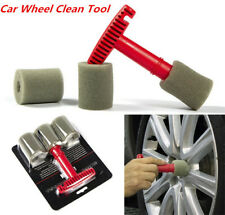 Car Lug Nut Wheel Cleaning Detailing Wash Brush Tool w/Removable Insert Sponges