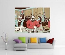 Il Grande Lebowski PASTA FICTION Coen Brothers Tarantino GIGANTE Wall Art Poster